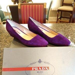 Purple Prada Wedges